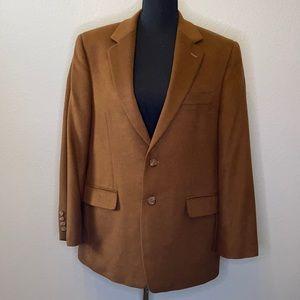 Ralph Lauren Mens Blazer Sport Coat Jacket 2 Button Wool Silk Cashmere Size 40S